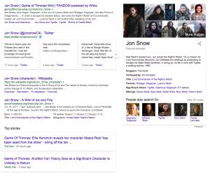 Jon Snow search results