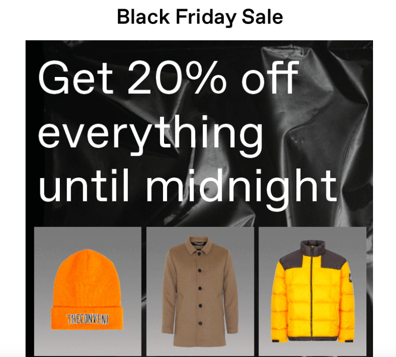 Black Friday Sale Screenshot