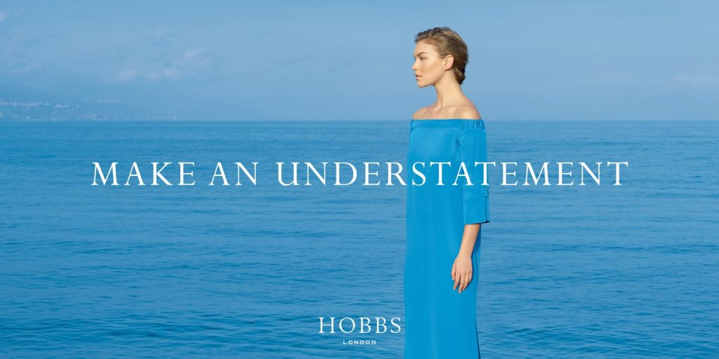 Screenshot of Hobbs illustrating that images used should empathise with customers state of mind and vision of themselves.